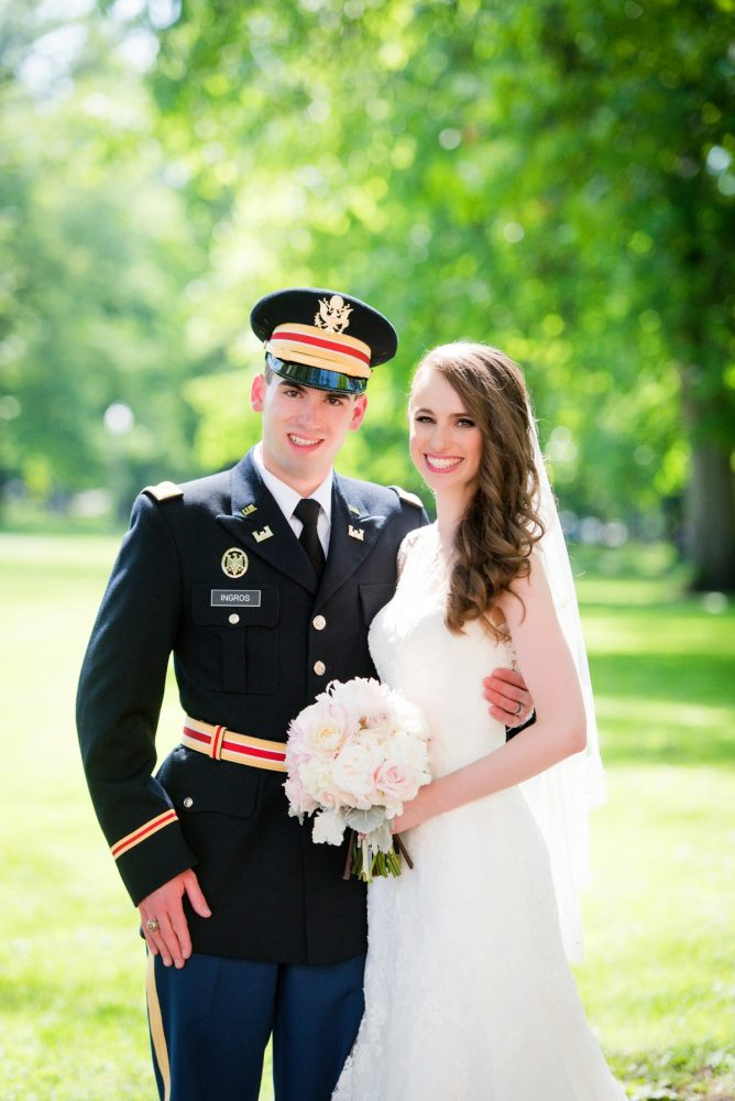 Military Wedding: Elegant Spring Omni William Penn Wedding from Leeann Marie Photography featured on Burgh Brides
