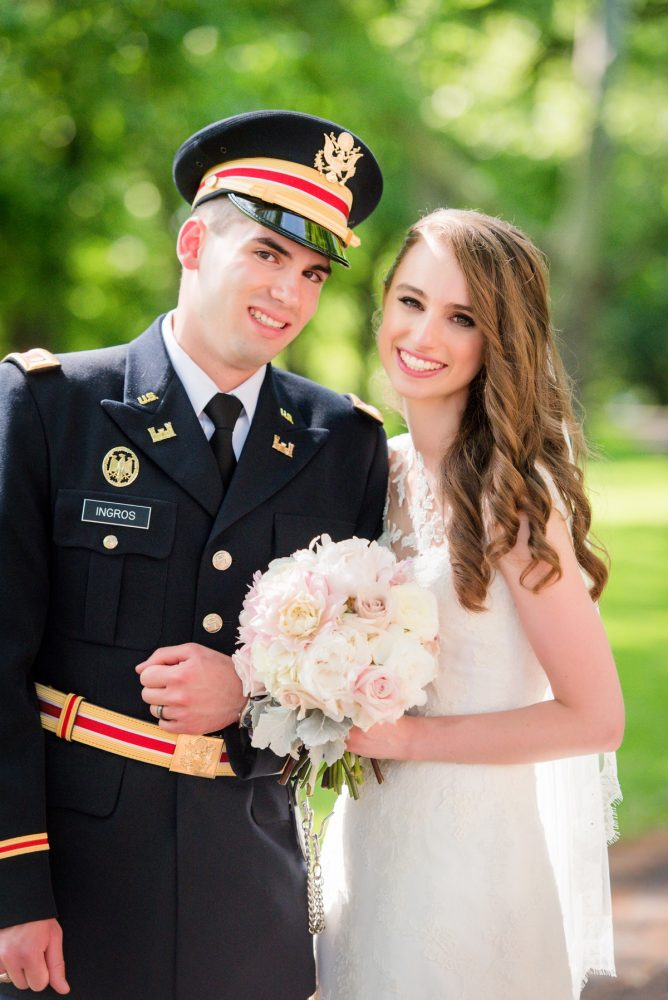 Groom in Military Uniform: Elegant Spring Omni William Penn Wedding from Leeann Marie Photography featured on Burgh Brides