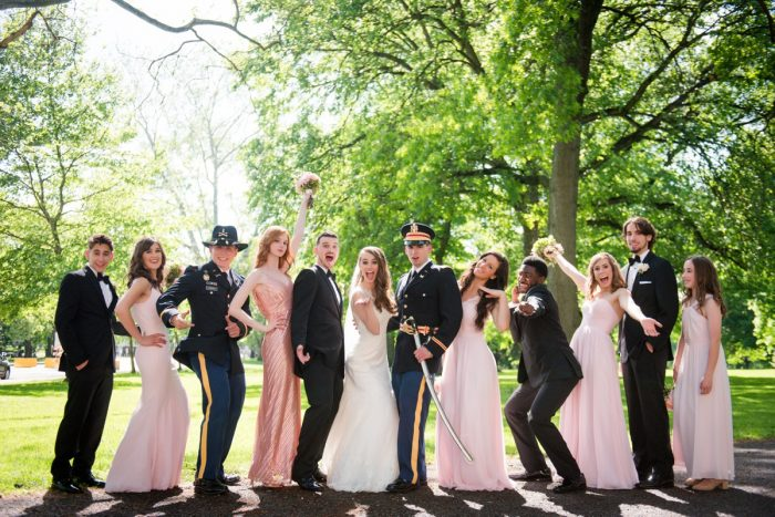 Groomsmen in Military Uniforms: Elegant Spring Omni William Penn Wedding from Leeann Marie Photography featured on Burgh Brides