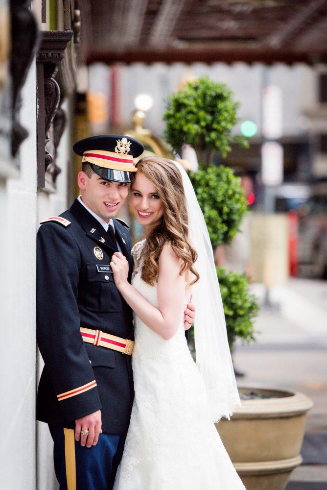 Downtown Pittsburgh Wedding Portraits: Elegant Spring Omni William Penn Wedding from Leeann Marie Photography featured on Burgh Brides
