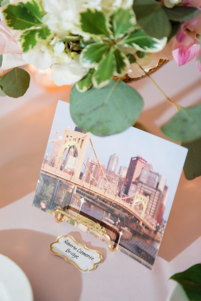 Wedding Table Numbers: Elegant Spring Omni William Penn Wedding from Leeann Marie Photography featured on Burgh Brides