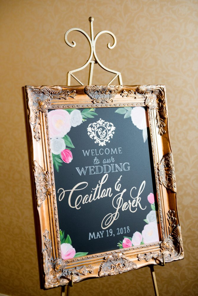 Wedding Welcome Signs: Elegant Spring Omni William Penn Wedding from Leeann Marie Photography featured on Burgh Brides