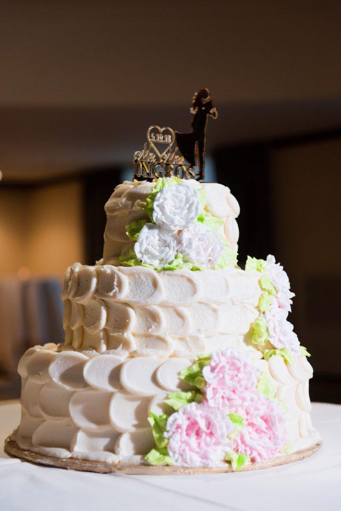 Buttercream Wedding Cake: Elegant Spring Omni William Penn Wedding from Leeann Marie Photography featured on Burgh Brides