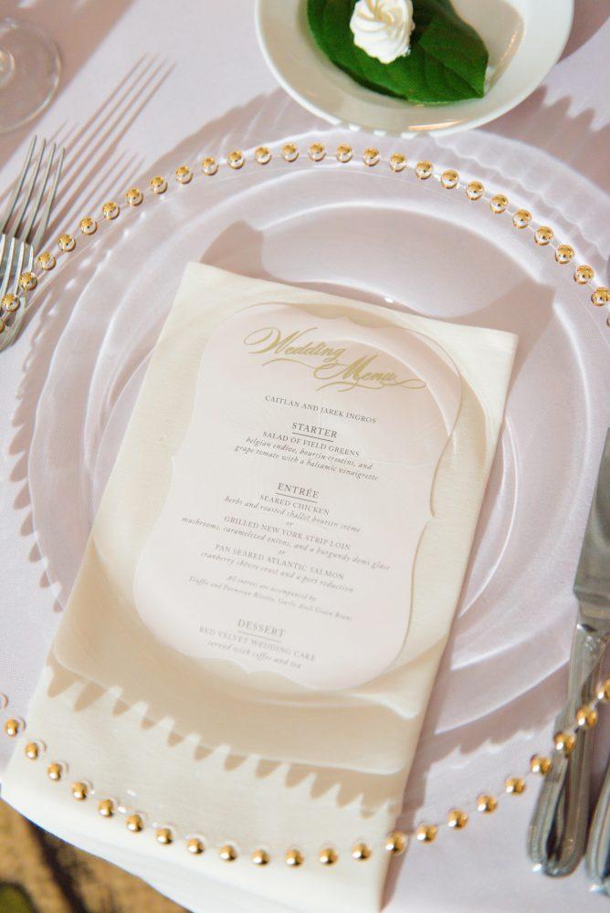 Classic Wedding Place Setting: Elegant Spring Omni William Penn Wedding from Leeann Marie Photography featured on Burgh Brides