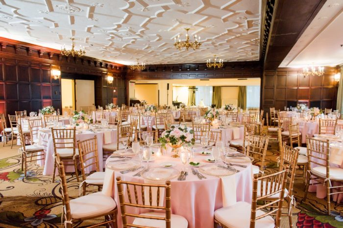 Blush Pink Wedding Decor: Elegant Spring Omni William Penn Wedding from Leeann Marie Photography featured on Burgh Brides