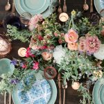 Green, blue, pink, and teal wedding details: Bohemian Whimsical Wedding Inspired Styled Shoot from Alyssa Thomas Events and Eva Lin Photography featured on Burgh Brides