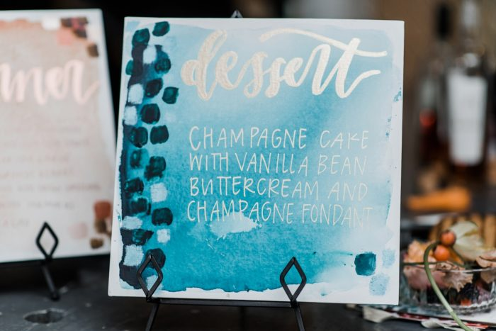 Hand painted wedding signs: Hip Eclectic Wedding Inspiration from Sky's the Limit Photography featured on Burgh Brides