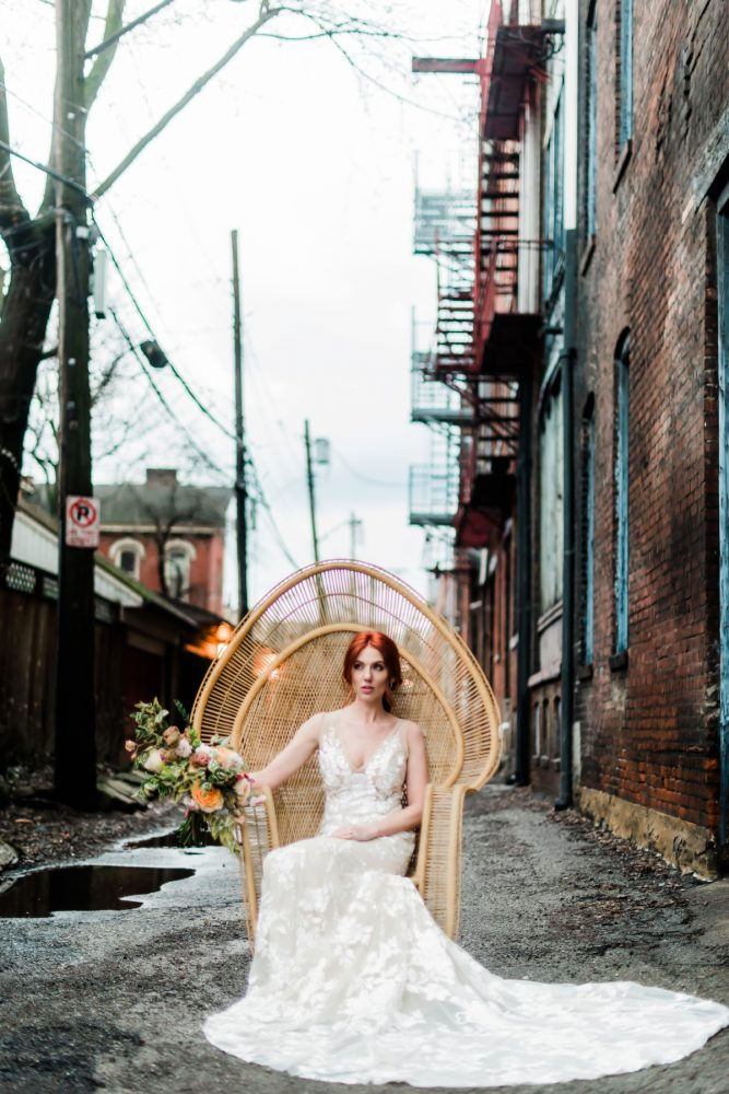 Pittsburgh wedding photos: Hip Eclectic Wedding Inspiration from Sky's the Limit Photography featured on Burgh Brides