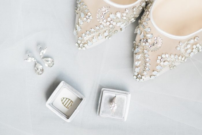 Bella Belle Wedding Shoes The Mrs. Box Ring Box: Soft & Neutral Wedding at The Pennsylvanian from Levana Melamed Photography featured on Burgh Brides