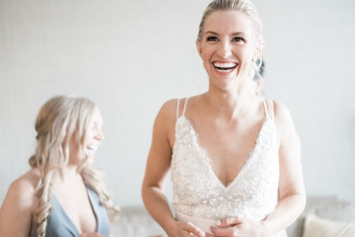 Truvelle Wedding Dress: Soft & Neutral Wedding at The Pennsylvanian from Levana Melamed Photography featured on Burgh Brides