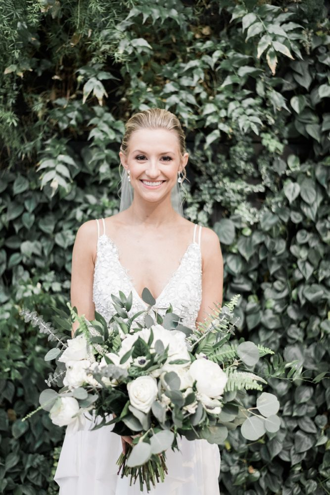 Greenery and White Wedding Bouquet: Soft & Neutral Wedding at The Pennsylvanian from Levana Melamed Photography featured on Burgh Brides