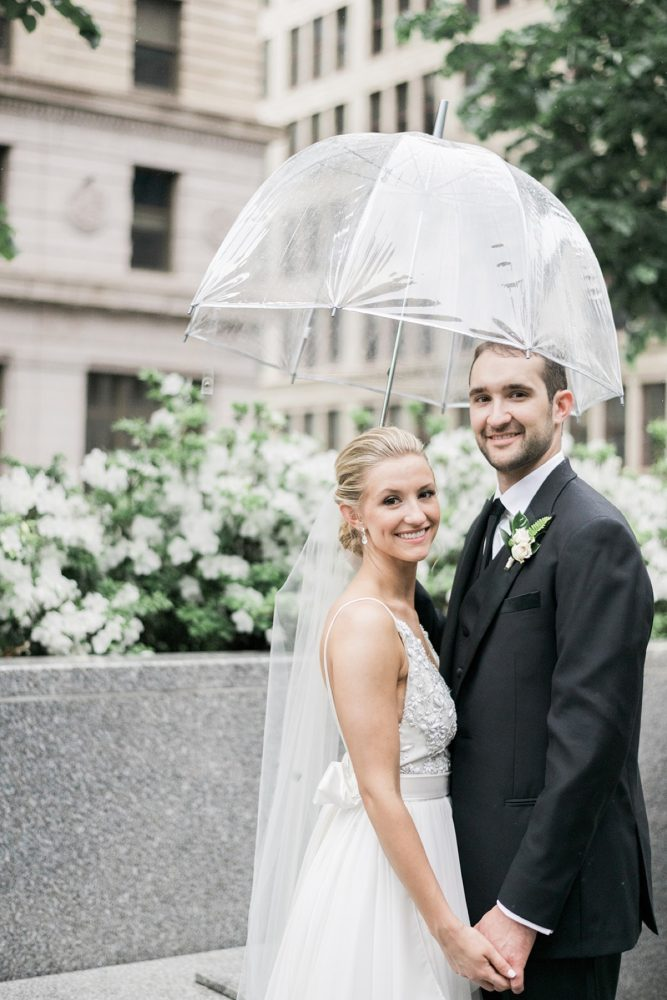 Downtown Pittsburgh wedding photos: Soft & Neutral Wedding at The Pennsylvanian from Levana Melamed Photography featured on Burgh Brides