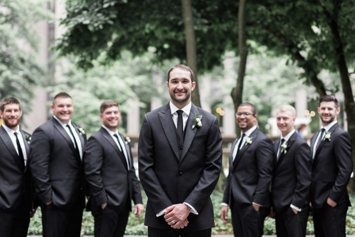Black and white groom tuxedo: Soft & Neutral Wedding at The Pennsylvanian from Levana Melamed Photography featured on Burgh Brides