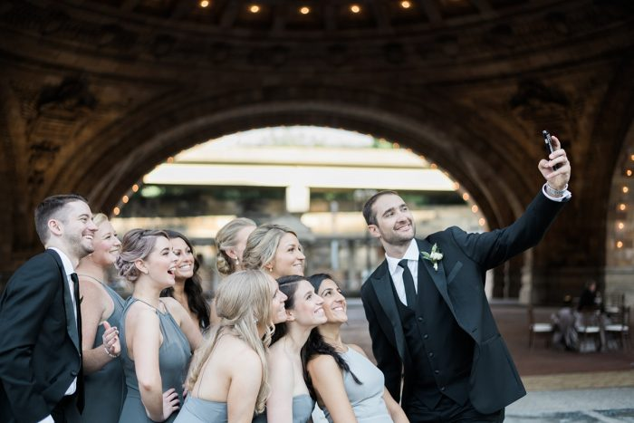 Wedding day selfie: Soft & Neutral Wedding at The Pennsylvanian from Levana Melamed Photography featured on Burgh Brides