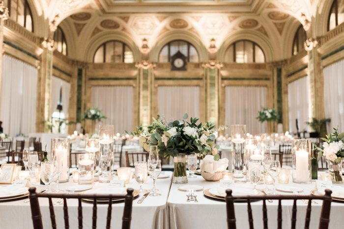 Romantic ballroom wedding decor: Soft & Neutral Wedding at The Pennsylvanian from Levana Melamed Photography featured on Burgh Brides