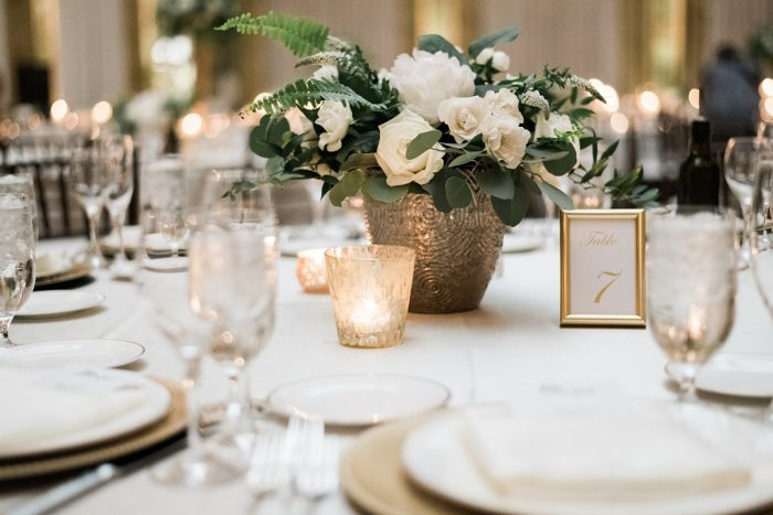White and green wedding flowers: Soft & Neutral Wedding at The Pennsylvanian from Levana Melamed Photography featured on Burgh Brides