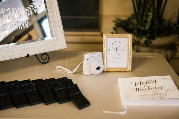 Polaroid wedding guest book: Soft & Neutral Wedding at The Pennsylvanian from Levana Melamed Photography featured on Burgh Brides