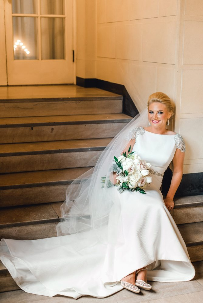Rosa Clara Wedding Dress: Timeless & Elegant Omni William Penn Wedding from Dawn Derbyshire Photography & Olive & Rose Events