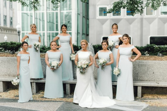 Baby Blue Bridesmaids Dresses: Timeless & Elegant Omni William Penn Wedding from Dawn Derbyshire Photography & Olive & Rose Events
