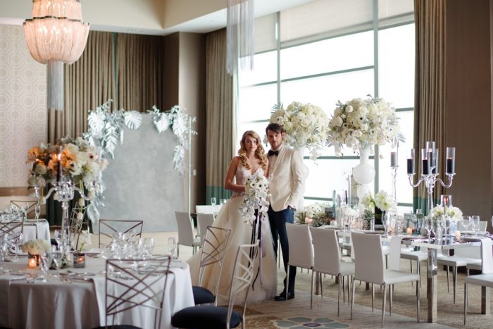 Pittsburgh Fairmont Hotel wedding: Gray & White Wedding Inspired Styled Shoot from Michael Will Photographers
