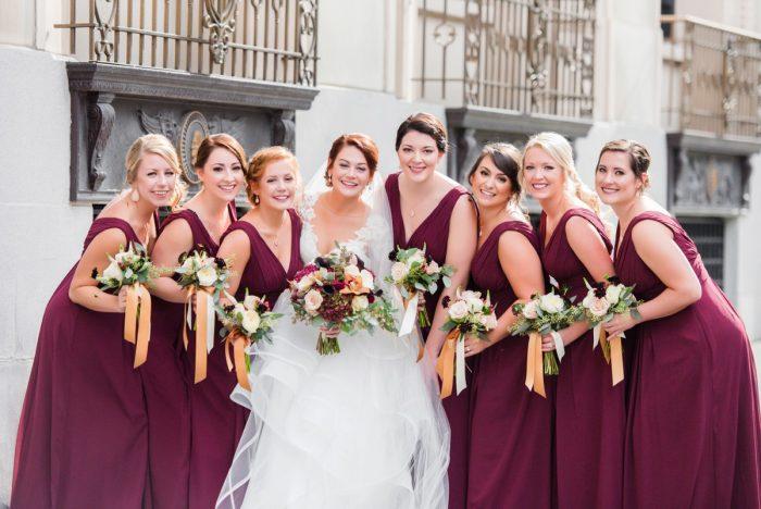 Sophisticated Merlot Omni William Penn Inspired Wedding