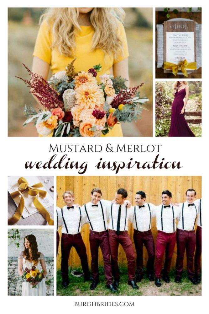 Merlot & Mustard Yellow Wedding Inspiration from Burgh Brides