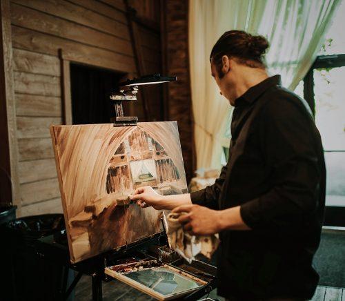 Live Painting by Jaison & Stephanie - Pittsburgh Live Wedding Painter & Burgh Brides Vendor Guide Member