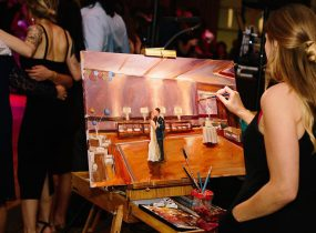 Live Painting by Jaison & Stephanie - Pittsburgh Live Wedding Painter & Burgh Brides Vendor Guide Member
