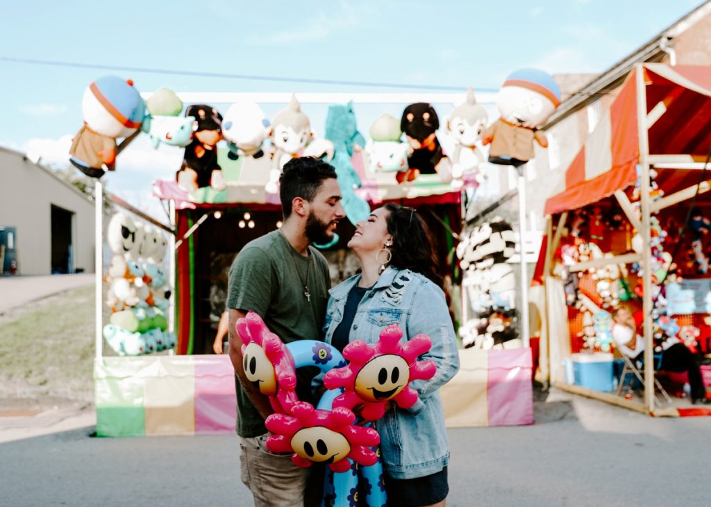 Totally Killer Washington County Fair Engagement Session. For more engagement photo ideas, visit burghbrides.com!