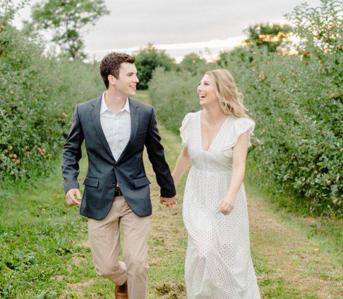 Apple Orchard Engagement Session. For more engagement inspiration, visit burghbrides.com!