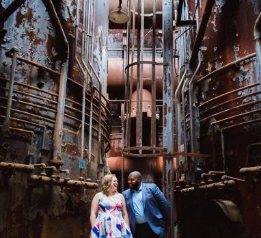 Carrie Furnace Engagement Session. For more engagement photo inspiration, visit burghbrides.com!