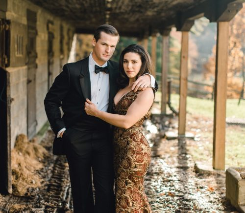 Ralph Lauren Inspired Engagement Session at Hartwood Acres. For more engagement photo ideas, visit burghbrides.com!