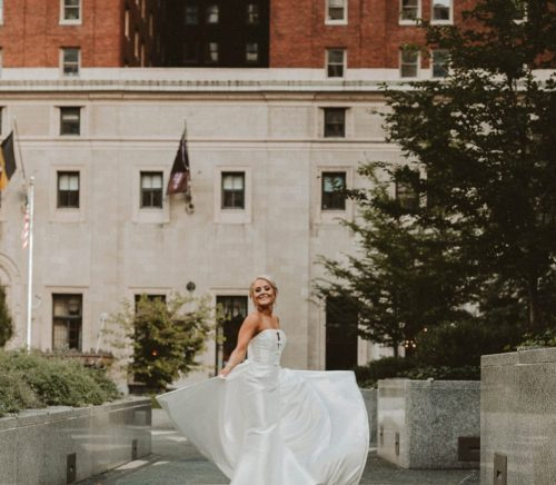 Romantic & Whimsical Hotel Monaco Wedding. Fore more wedding inspiration, visit burghbrides.com!