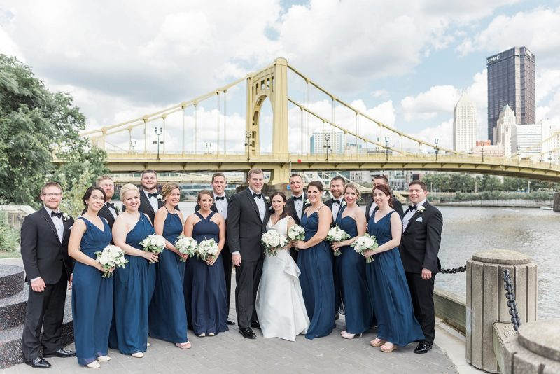 Timeless Navy Blue and White PNC Park Wedding. For more wedding inspiration, visit burghbrides.com!
