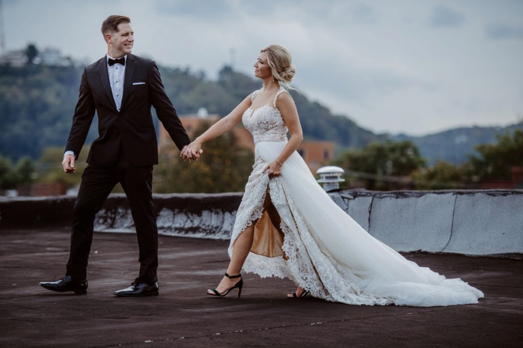 Unique Chic Wedding at HIP at the Flashlight Factory. For more wedding inspiration, visit burghbrides.com!