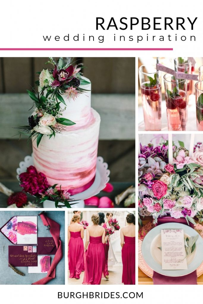 Raspberry Wedding Inspiration Perfect for Any Summer Wedding. For more wedding color palette ideas, visit burghbrides.com!