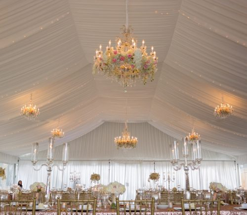 A Sparkly Wedding at The Grand Estate Fit for a Princess. For more glamorous wedding details, visit burghbrides.com!