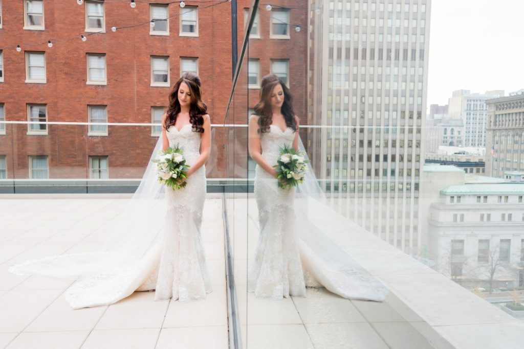 Chic Greenery Filled Hotel Monaco Wedding. For more sophisticated wedding ideas, visit burghbrides.com!