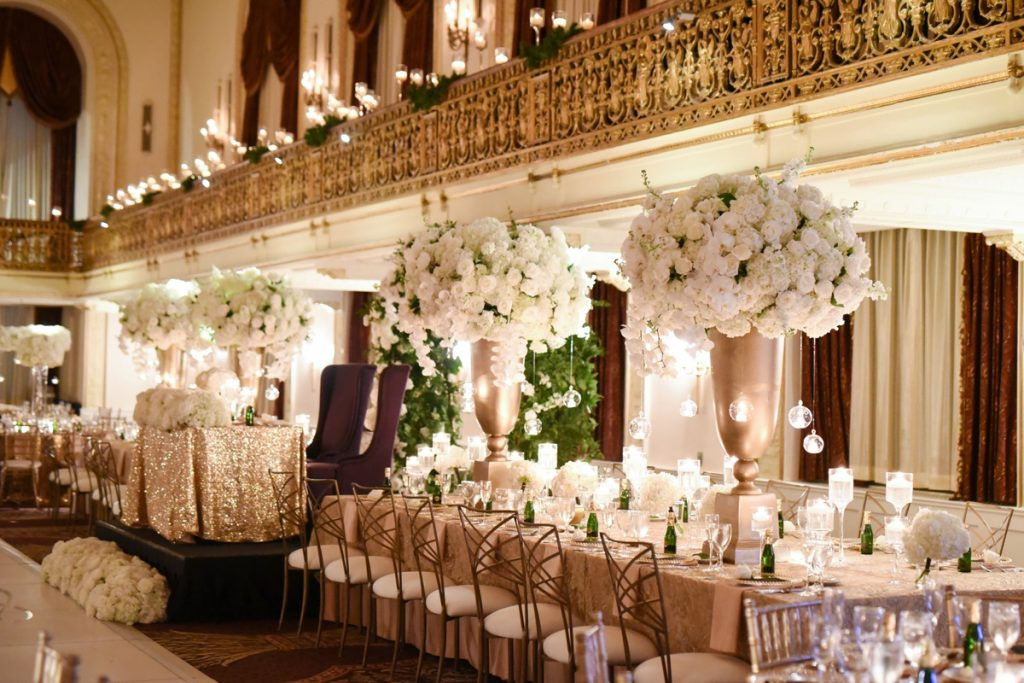 Classic Black Tie Wedding at the Omni William Penn. For more fabulous wedding inspiration, visit burghbrides.com!