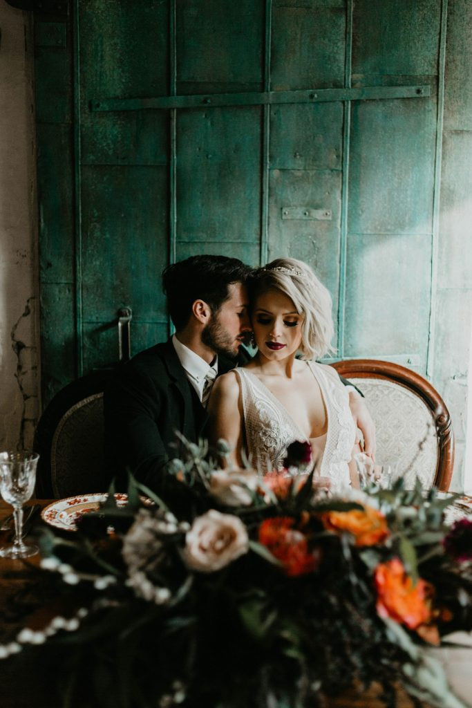 Moody Southwestern Wedding Inspired Styled Shoot. For more edgy wedding ideas, visit burghbrides.com!