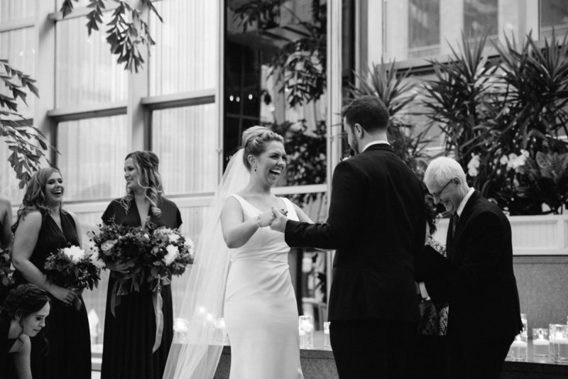 Strikingly Unique Wedding at PPG Wintergarden. Find more wedding ideas at burghbrides.com!