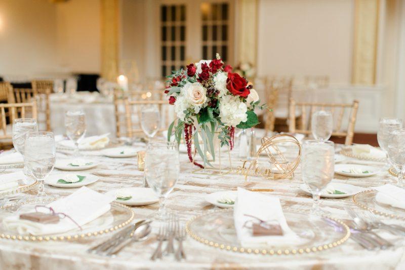 Traditional Navy & Burgundy Omni William Penn Wedding. For more beautiful wedding ideas, visit burghbrides.com!