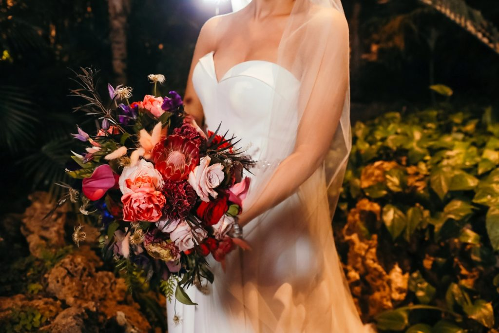 Fairytale Elopement at Phipps Conservatory with a Surprise Reception. For more modern wedding ideas, visit burghbrides.com!