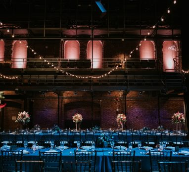 Modern Industrial New Hazlett Theater Wedding. For more industrial wedding ideas, visit burghbrides.com!