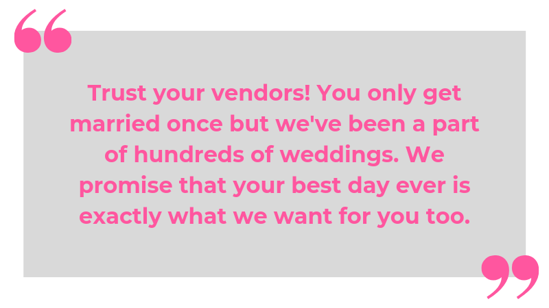 Secrets Your Wedding Vendors Want You to Know
