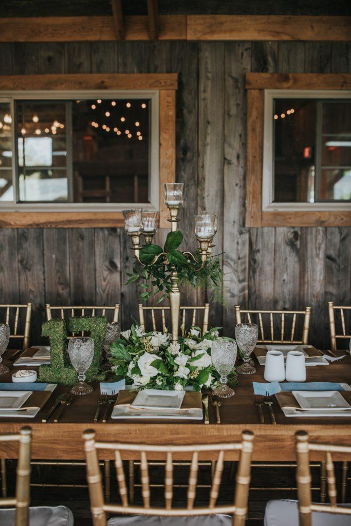 Earthy Sage & Dusty Blue Wedding at Rustic Acres Farm. For more farm wedding ideas, visit burghbrides.com!