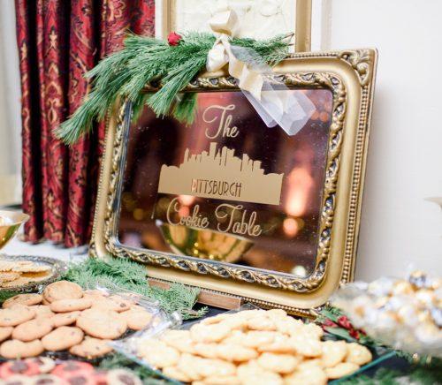 Festive Holiday Omni William Penn Hotel Wedding. For more Christmas wedding ideas, visit burghbrides.com!