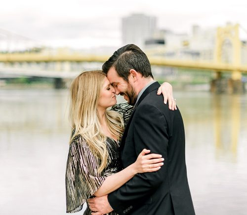 PNC Park Engagement Session. For more fun engagement photo ideas, visit burghbrides.com!