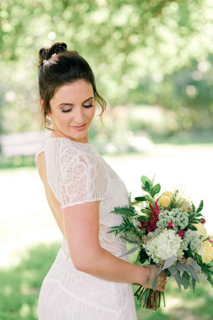 Sweet Al Fresco Backyard Wedding. For more whimsical wedding ideas, visit burghbrides.com!