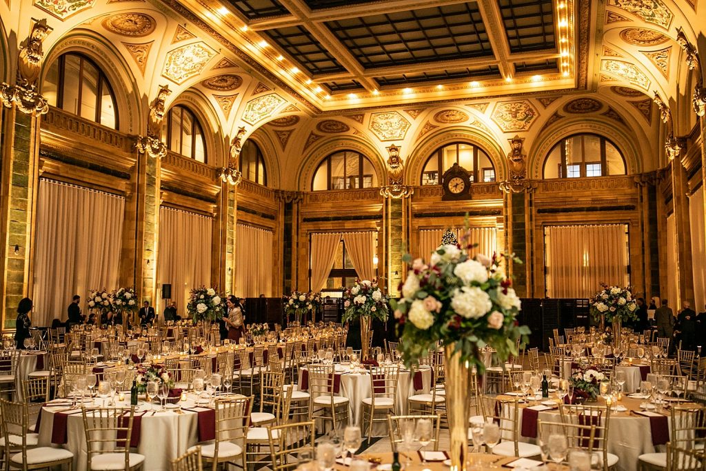 Warm Burgundy & Gold Pennsylvanian Wedding. For more luxury wedding ideas, visit burghbrides.com!